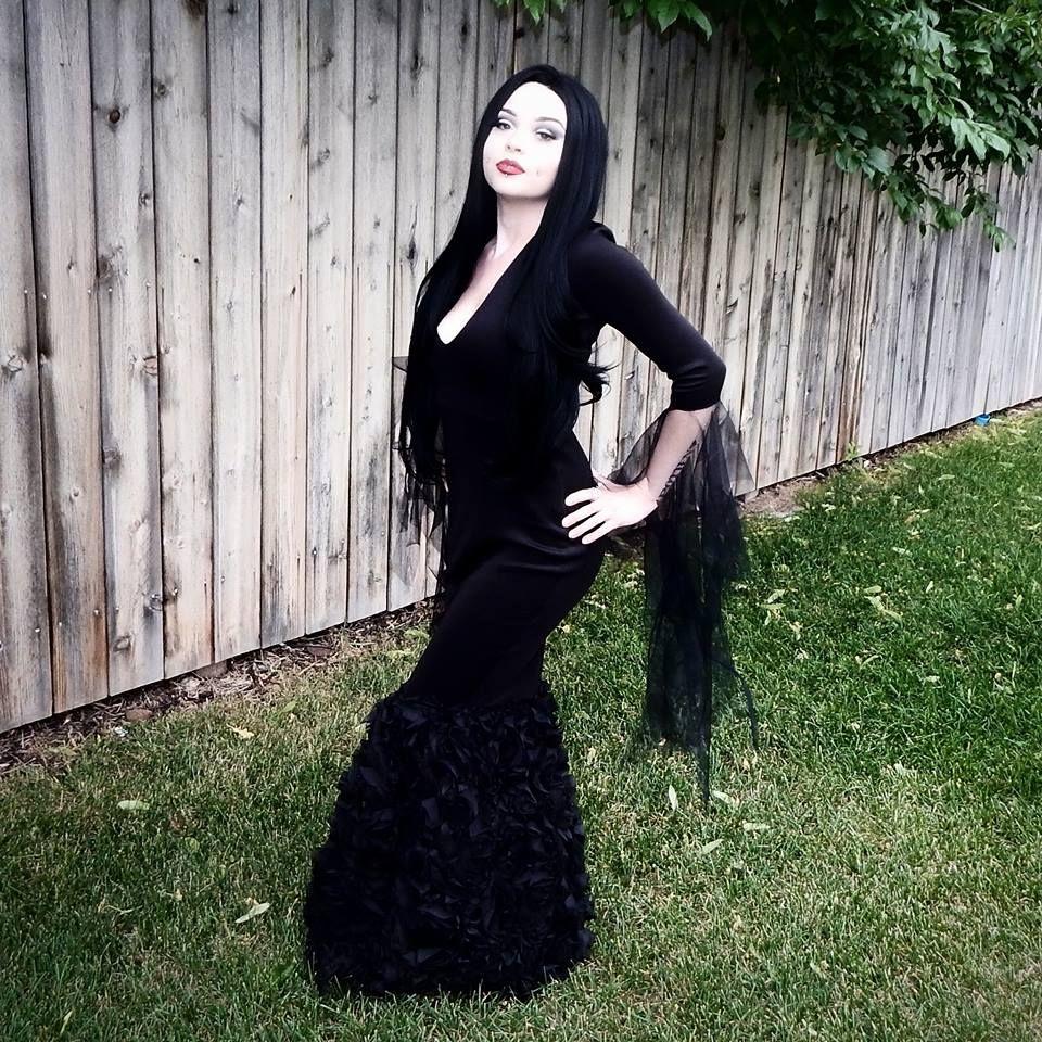 Morticia Addams Wedding Dress | SYDNEY NICOLE aka
