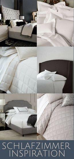 Meine Persönlichen Inspirationen Für Schlafzimmer Design Und Dekoration In  Weiß, Taupe Und Grau Zusammen Mit