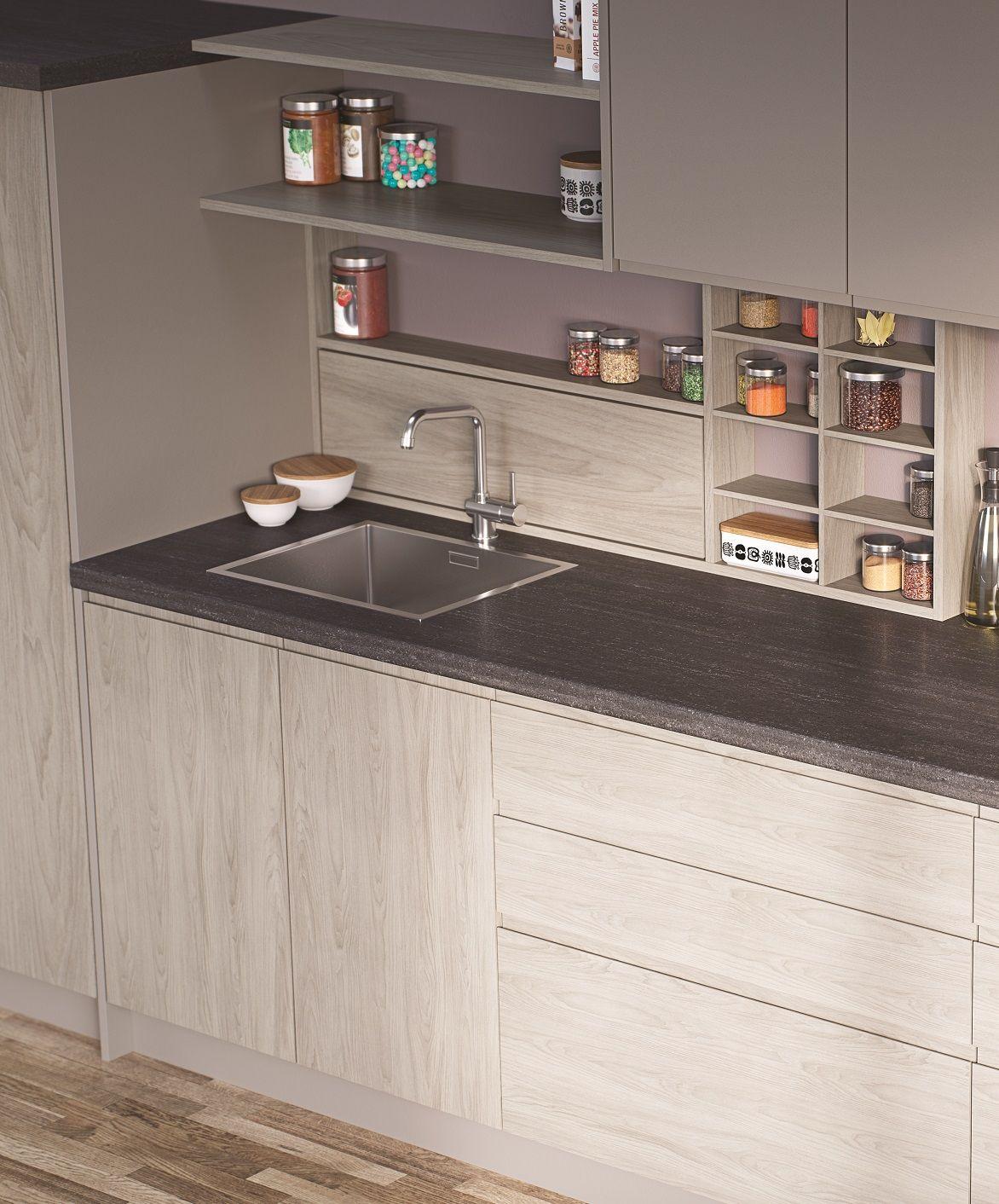 EGGER Kitchen Worktop F293 ST82 Tivoli Anthracite: A
