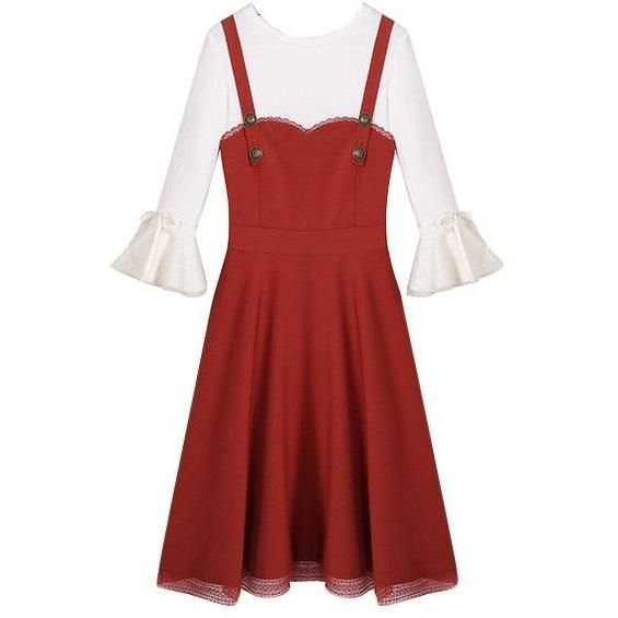 Plus Size Burnt Orange Pinafore Dress Prepare For The First Breath