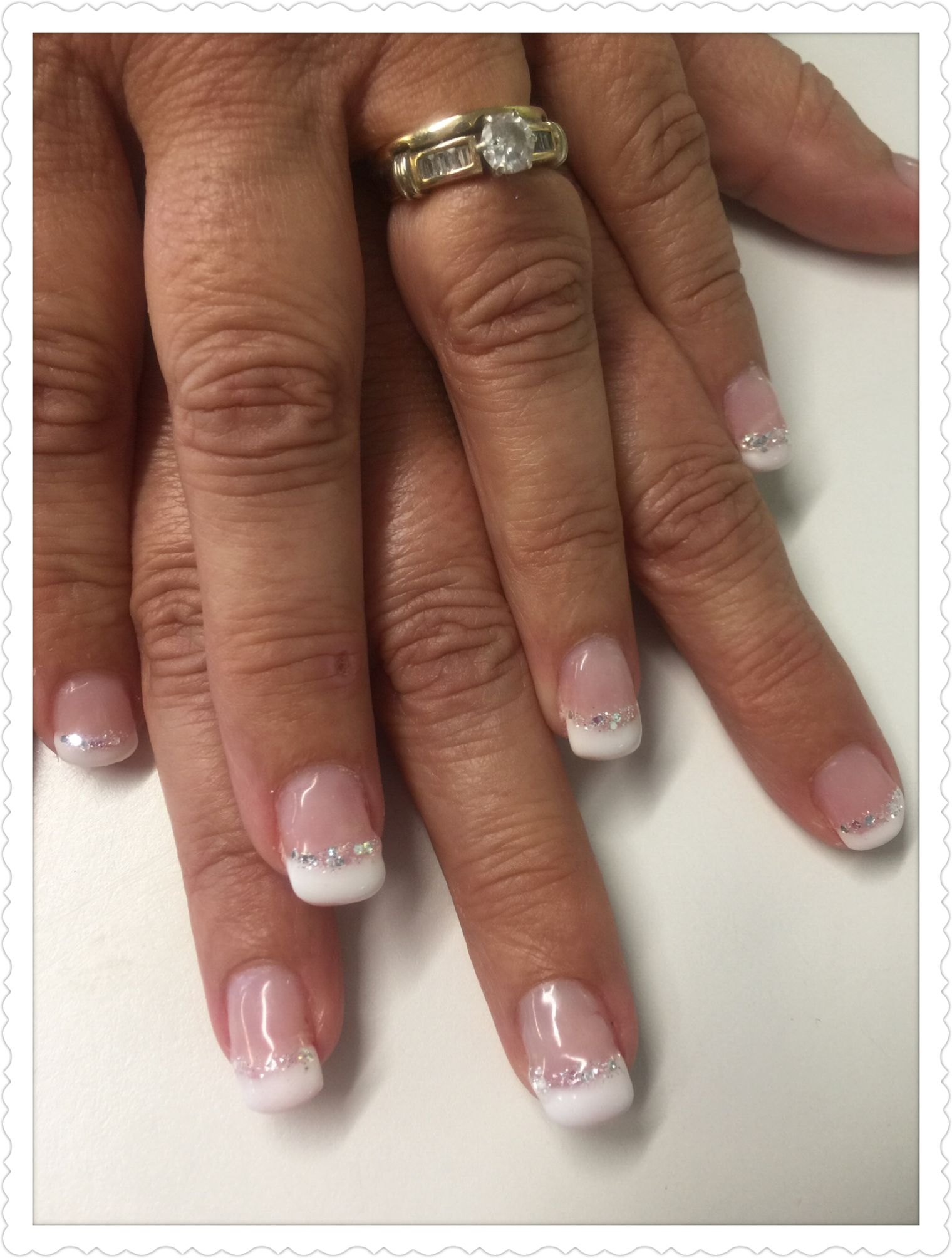 Big Diamonds/ French | Nails by Connie | Pinterest