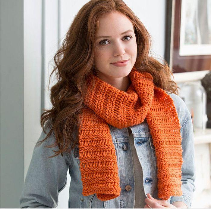 Cozy Garter Drop Stitch Scarf Knit Happens Pinterest Yarn Ball