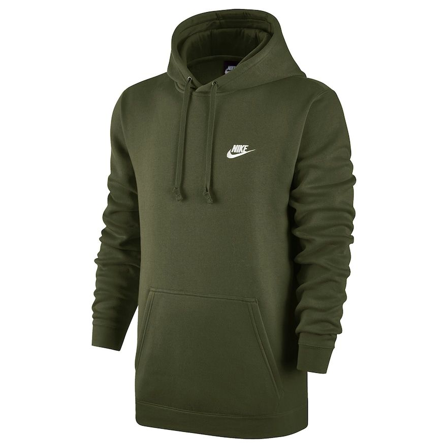 Details about NEW Nike Men's Club Full Zip Fleece Hoodie Olive Green, Large