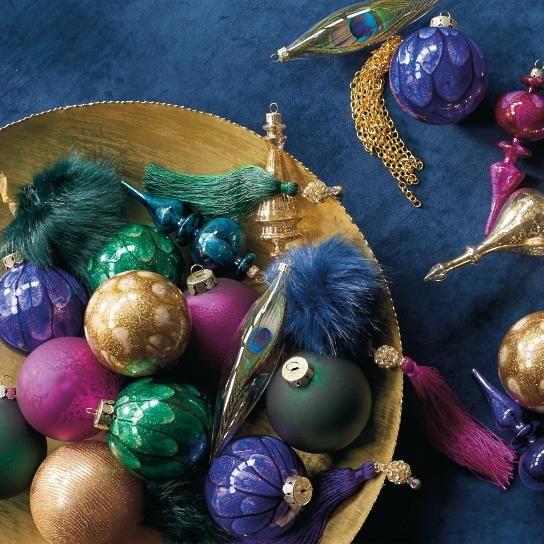 Uptown Brights 20-pc. Ornament Set GR color scheme