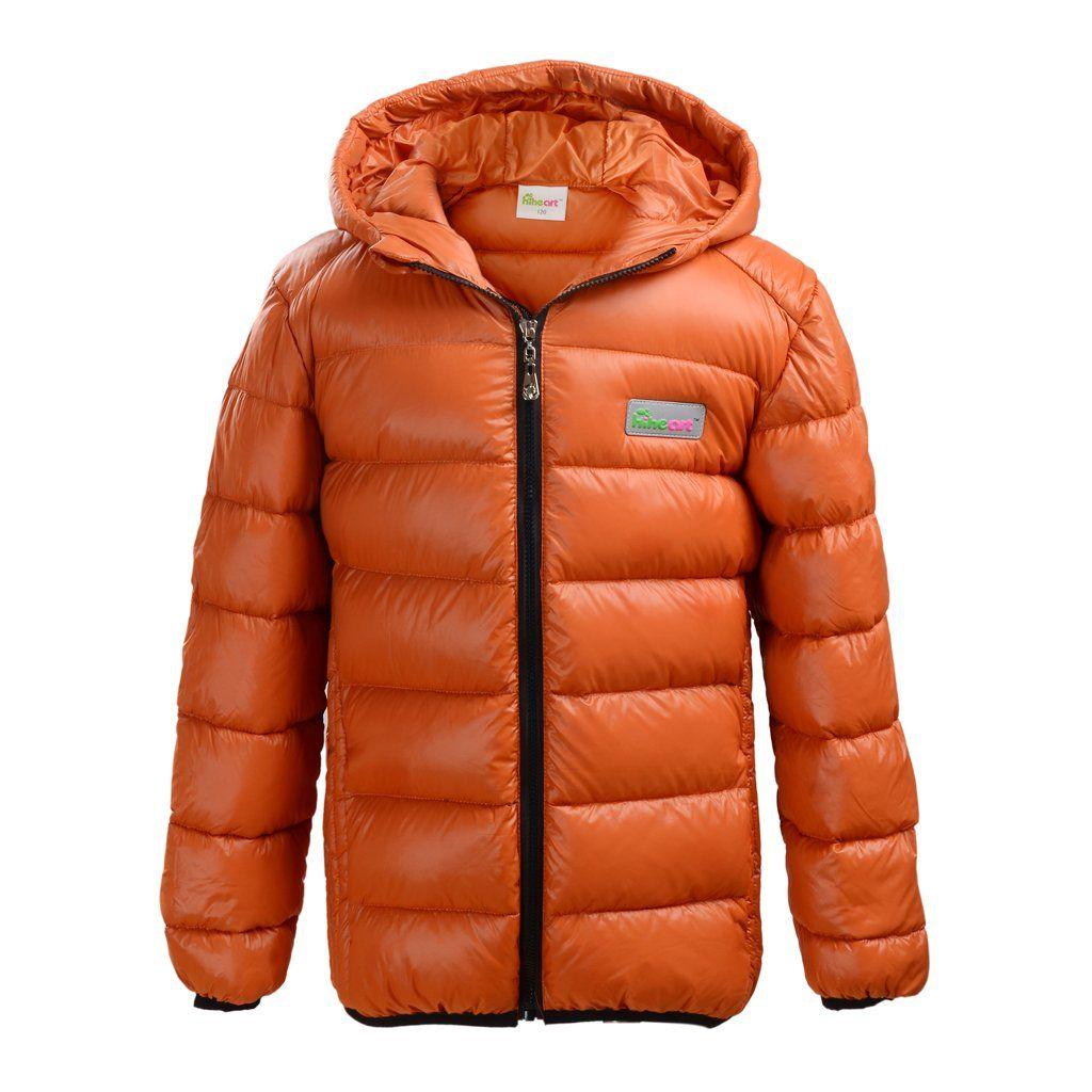 Hiheart Little Boys Down Hooded Puffer Jacket Pockets Orange 6 80 Duck Down 629 Fill Duck Down Insulated Jacket Elast Winter Jackets Puffer Jackets Jackets [ 1024 x 1024 Pixel ]