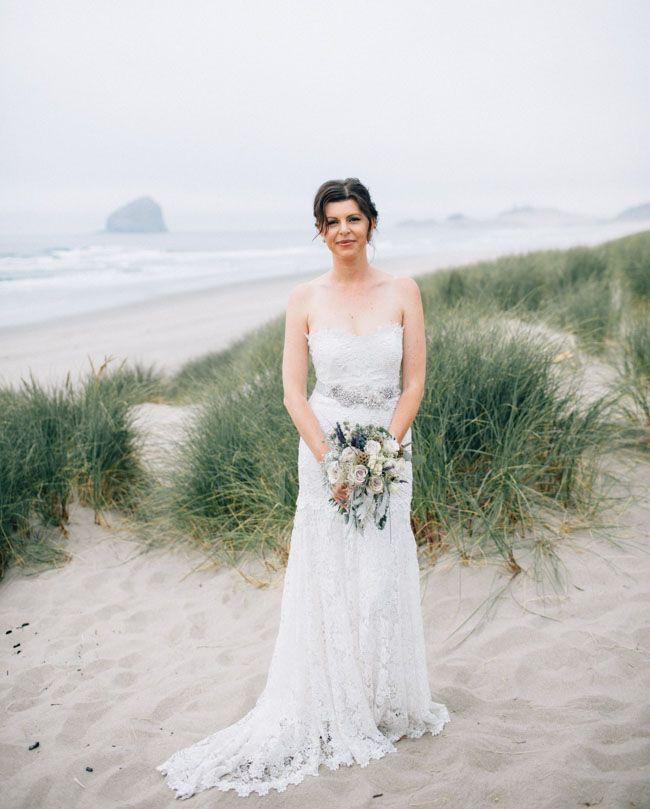 Fancy Dreamy lace Nicole Miller wedding dress