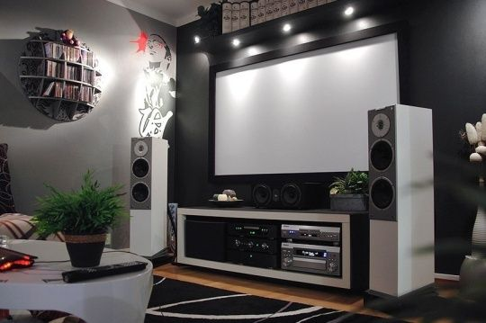 theaters throughout living room home design new | Gone IKEA Crazy: Johan's Ultimate Home Theater Hack | Home ...