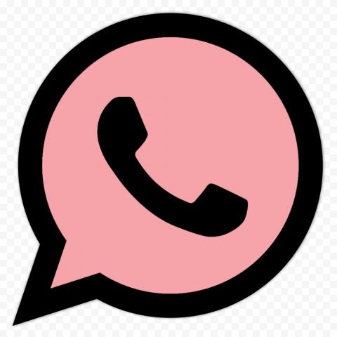 Hd Pink Black Wa Whatsapp App Logo Icon Png Logo Icons App Logo Pink