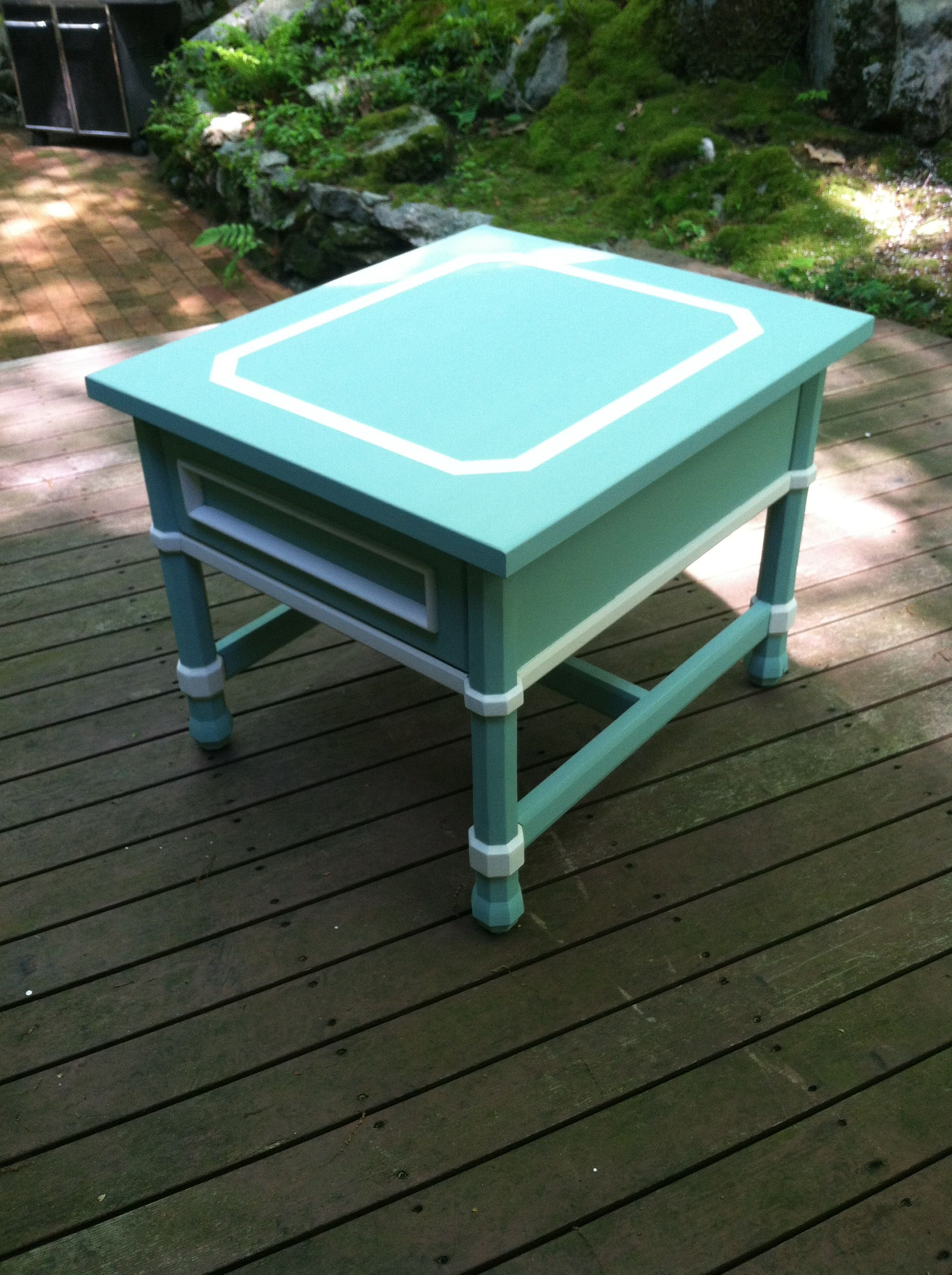 Tiffany inspired for side table makeover