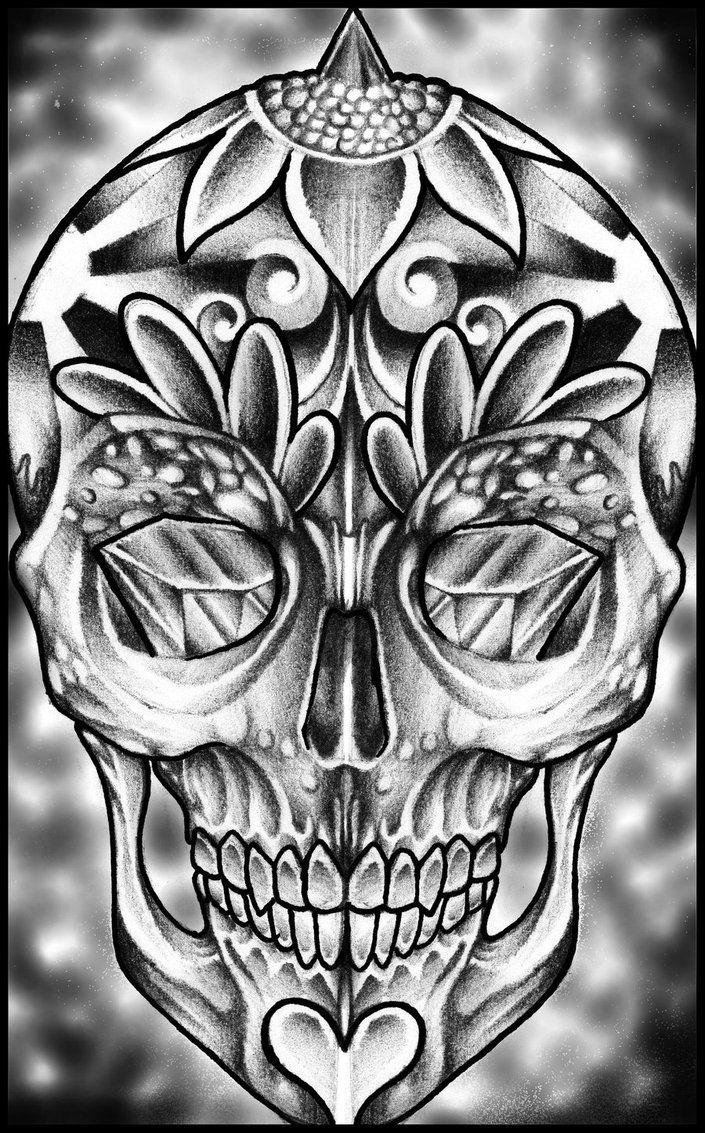 Sugar Skull by thirteen7s Skulls drawing, Candy skull