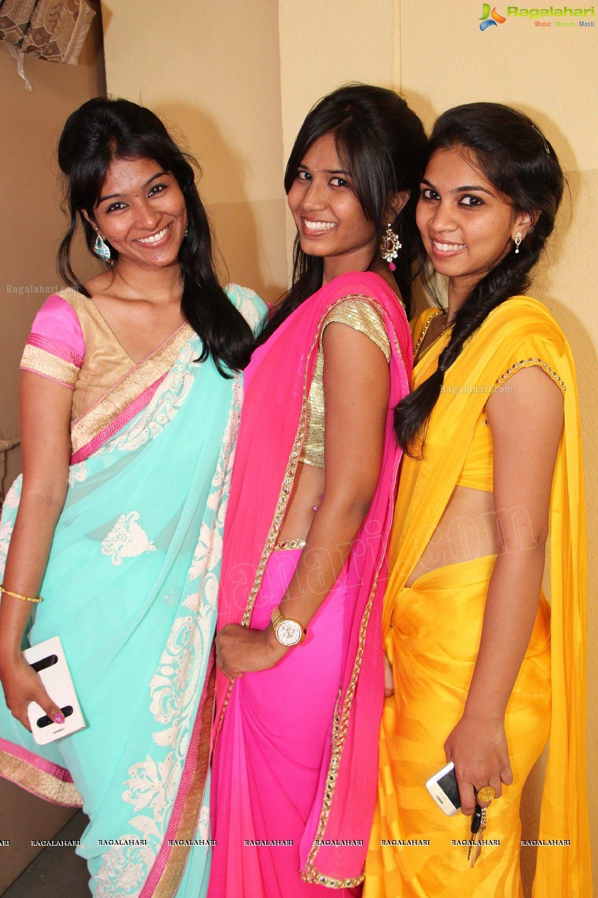 College girls in saree-4828