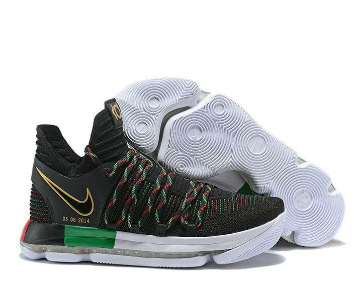 online retailer fc0af d6fc5 High Quality Nike KD 10 Multicolor Black-Volt - Mysecretshoes