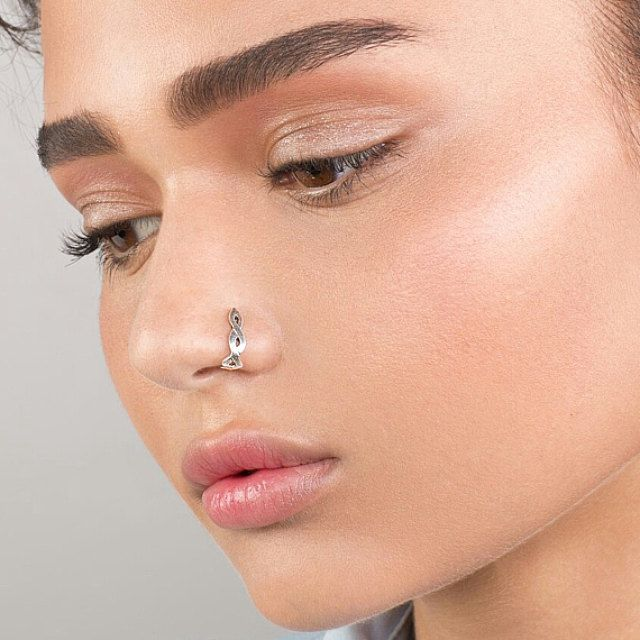 Photo of Delicate Celtic Fake Nose Ring – Faux Nose Ring , Fake Nose Hoop , Nose Hoop , Fake Piercing , Faux Piercing , Fake Nose Piercing