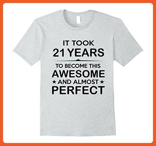 Mens Twenty One 21 Year Old 21st Birthday Gift Ideas For Her Him XL Heather Grey