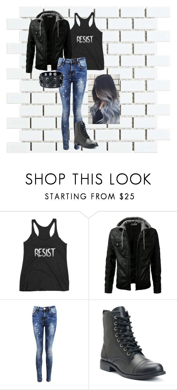 """""""Resist - Don't ever let them take your mind"""" by serenity-sempiternal2006 ❤ liked on Polyvore featuring Merola and Boohoo"""
