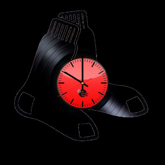 Boston Red Sox Handmade Vinyl Record Wall Clock Fan Gift
