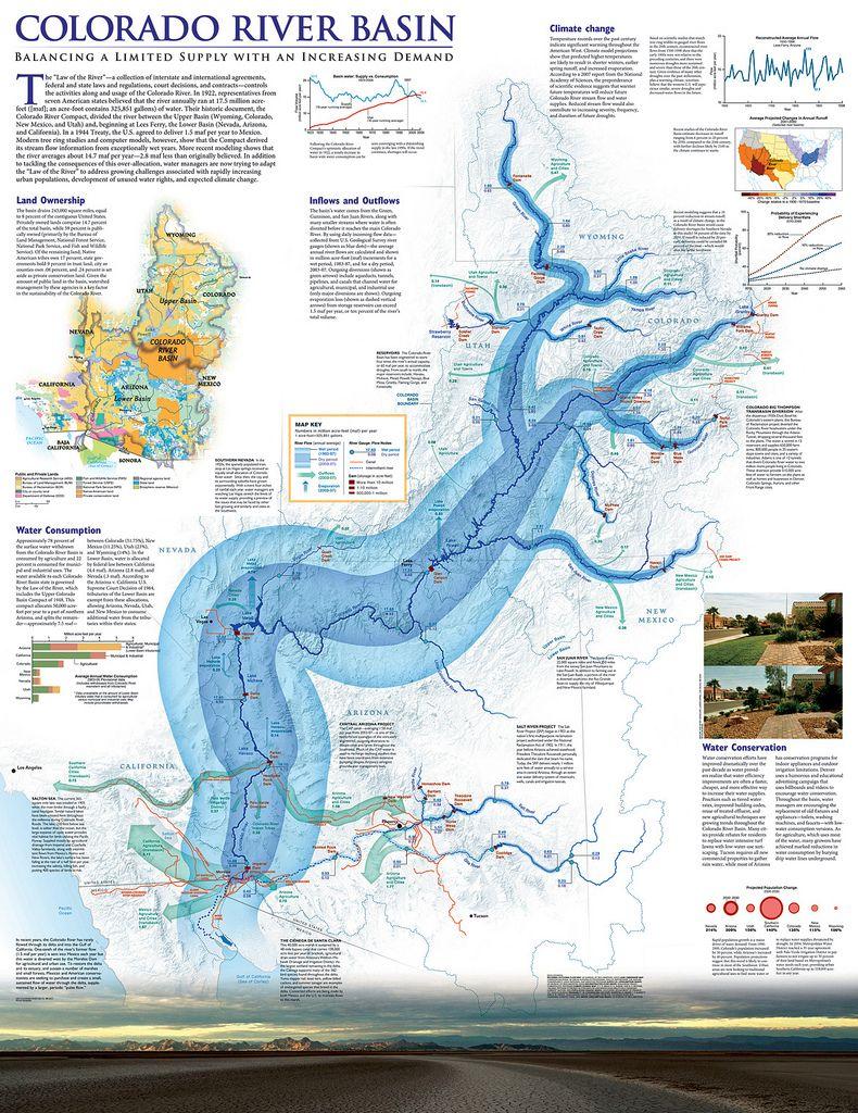Colorado River Basin Map Visual Pinterest Basins Photos And - Map of colorado plateau region