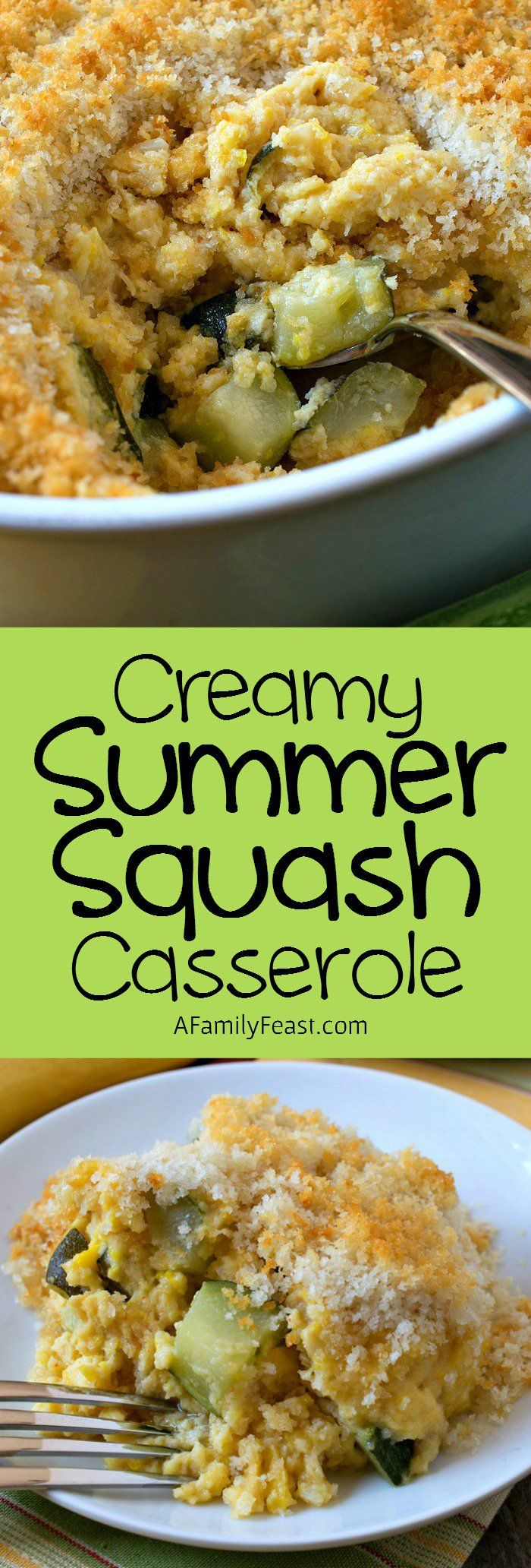 Creamy Summer Squash Casserole Recipe Summer squash