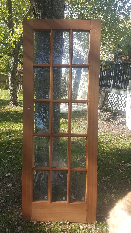 Old Wood Door Architectural Salvage 15 Pane Glass Door French