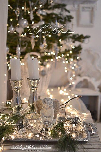 Vintage French Soul White Christmas Christmas Decorations Elegant Christmas Silver Christmas