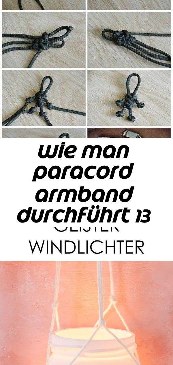 Wie man paracord armband durchführt 13 #geisterbasteln