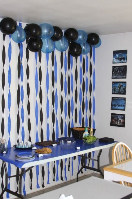 Change the colors but great idea kailey party for Simple table decoration ideas for great celebrations