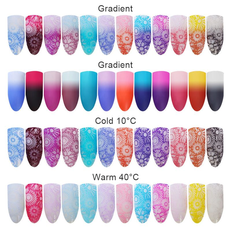 $3.59 6ml BORN PRETTY Thermal Stamping Polish Color Changing Nail ...