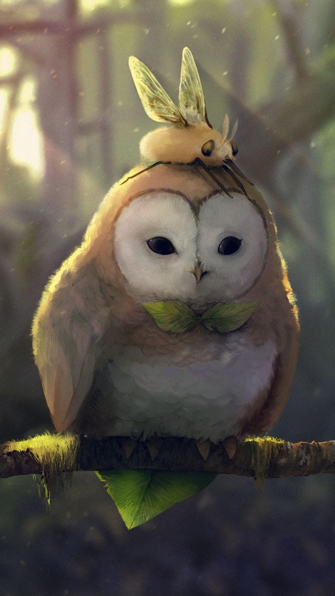 Fantasy Owl 1080x1920 Mobile Wallpaper Owl Wallpaper Owl Pictures Animal Wallpaper