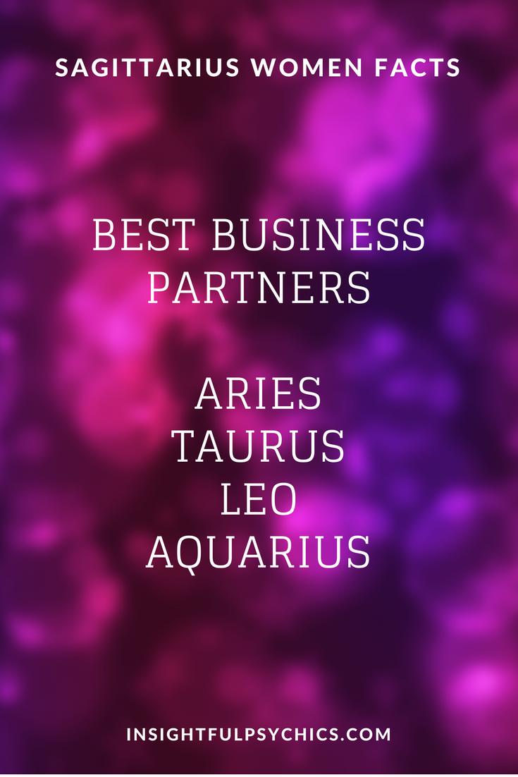 Sagittarius Woman Facts Best Business Partners