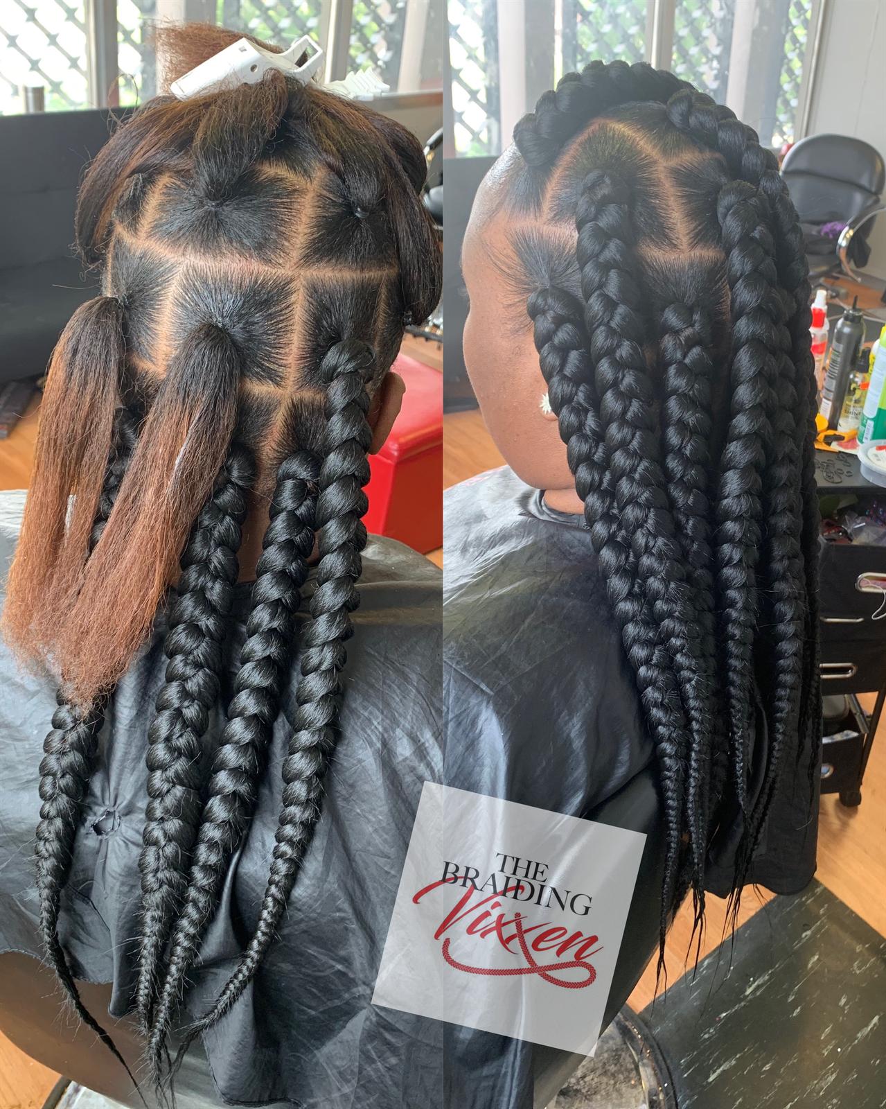 Big Box Braids Hairstyles 2017