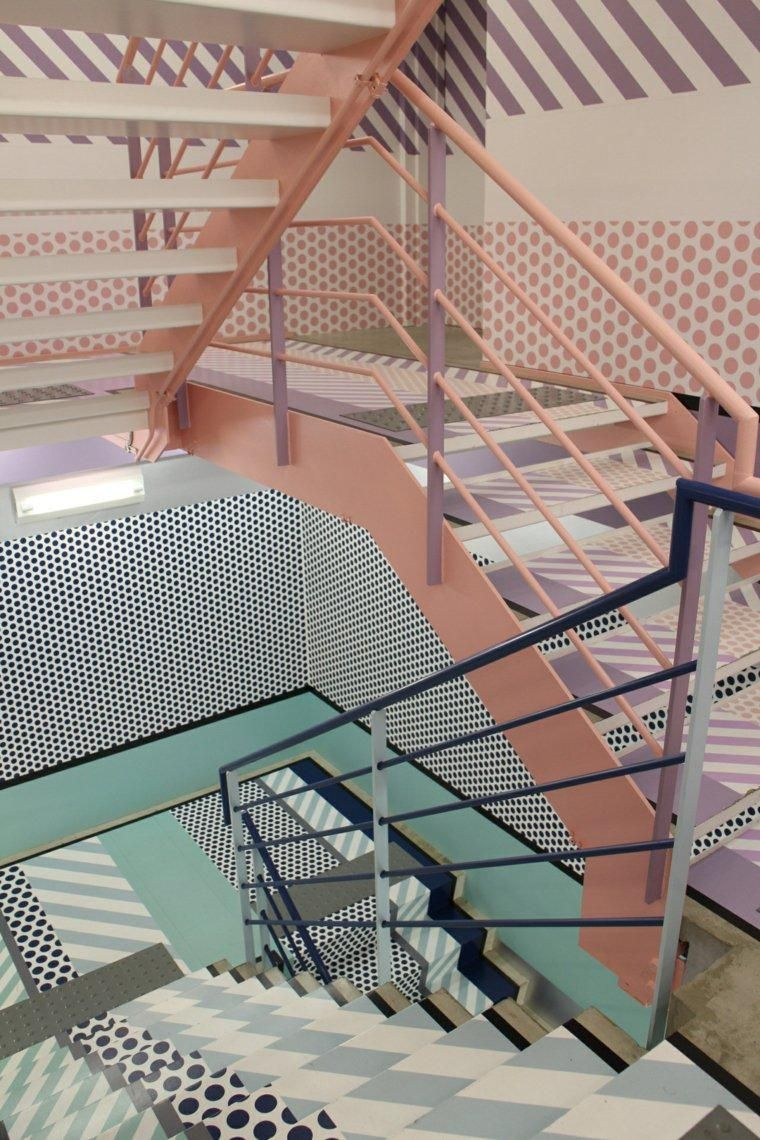Interior Design Haus 2018 Innentreppen 74 farbenfrohe Designs #Innen ...