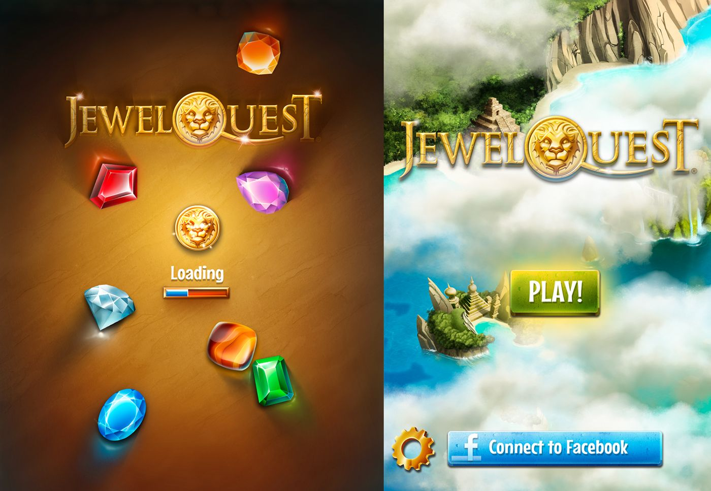 Jewel Quest iOS on Behance Game design, Connect to