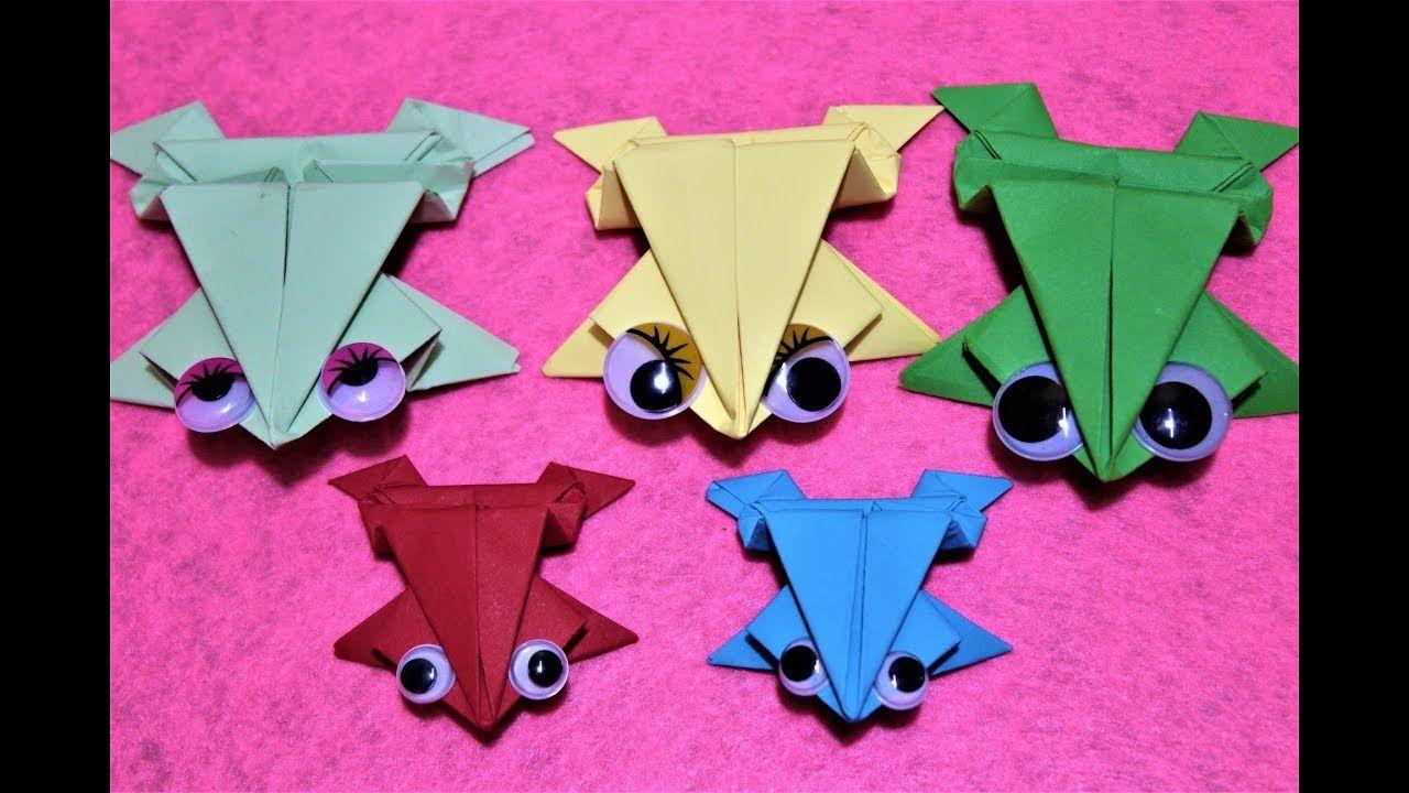 العاب ورقية طريقة عمل الضفدع فن طي الورق الاوريجامي العاب بنات و أول Diy Toys Best Kids Toys Origami Easy