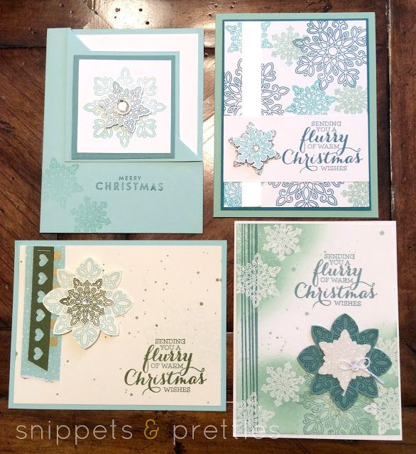 Snippets and Pretties 12 Days of Christmas Cards- Flurry of Wishes