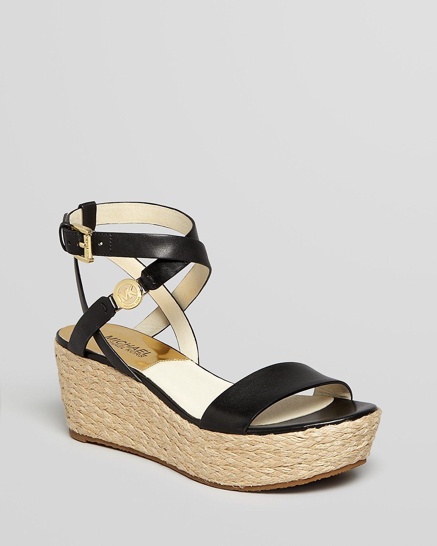 2d099db196af MICHAEL Michael Kors Open Toe Platform Espadrille Wedge Sandals - Jalita  Charm
