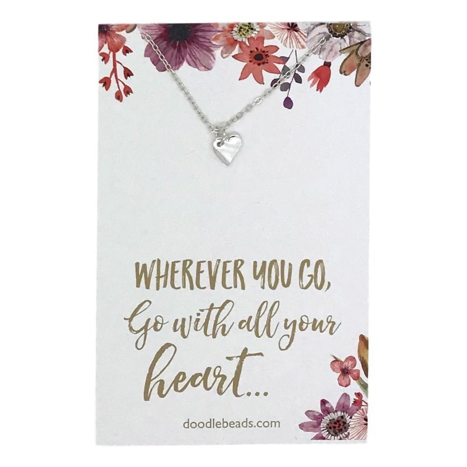 Doodle beads tiny heart necklace tiny heart graduation