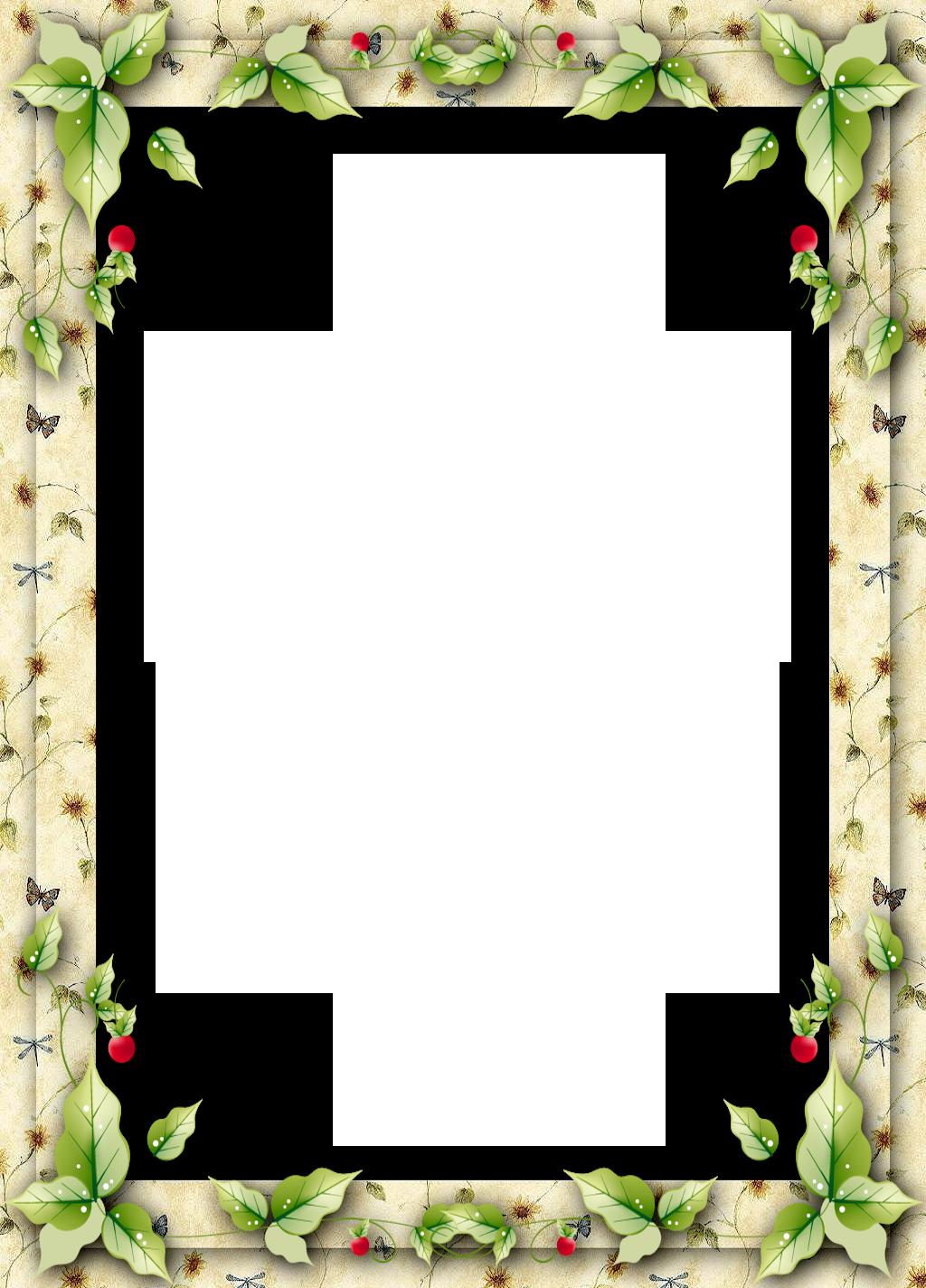 christmas frame with mistletoe