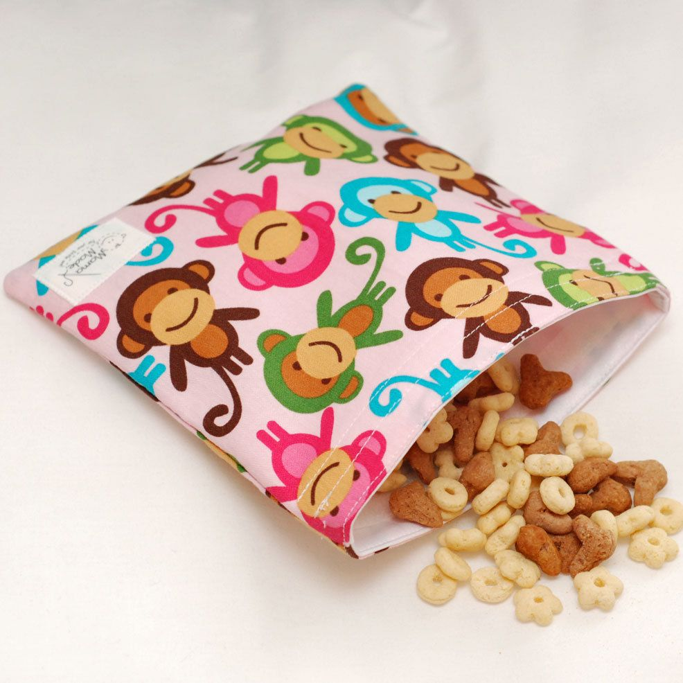 Sweet Monkey  green by mamamade EcoFriendly Reusable by mamamade, $7.50