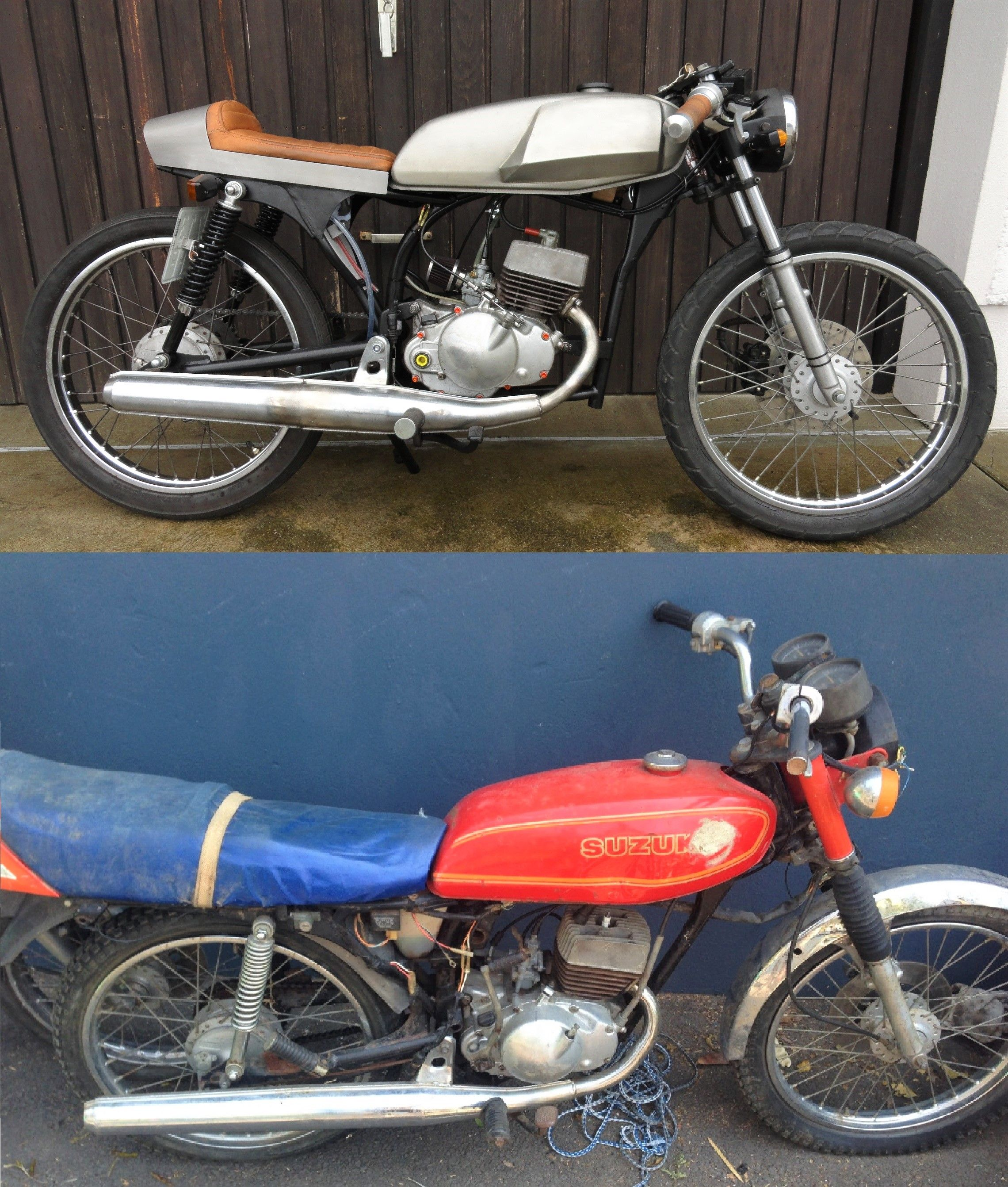 - Cafe Racer Vorher Nachher   - Suzuki GT50K Umbau #beforeandafter #before&after #instamoto #builtnotbought #stocksucks #ride #bike #custom #caferacer #kustom
