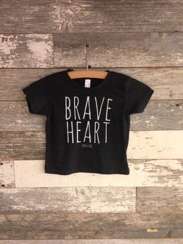 BRAVE HEART shirt from ezra and eli