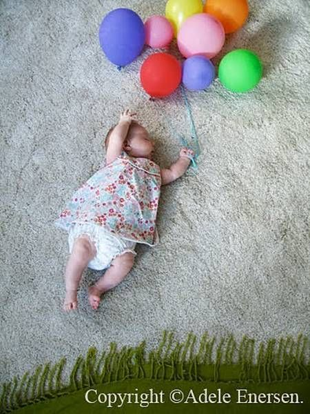 Fun photo shoot - sleeping baby