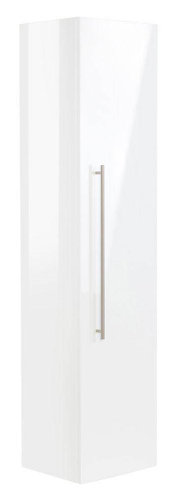 Hochschrank 150 Cm Weiss Hochglanz Hochschrank Badezimmer Hochschrank Und Schrank