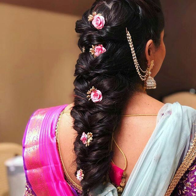 Indian Braids Hairstyle: Hair Accessories Image By Pasupathy A