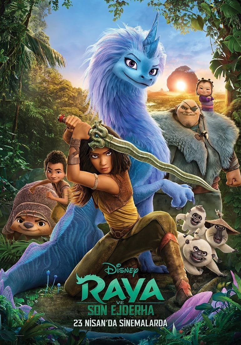 Three new posters for Raya and the Last Dragon