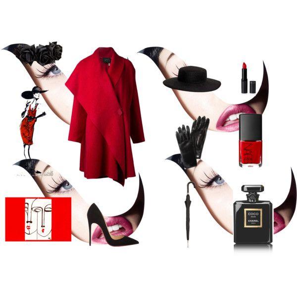 """""""Rojo y Negro."""" by alejandro-1234 on Polyvore"""