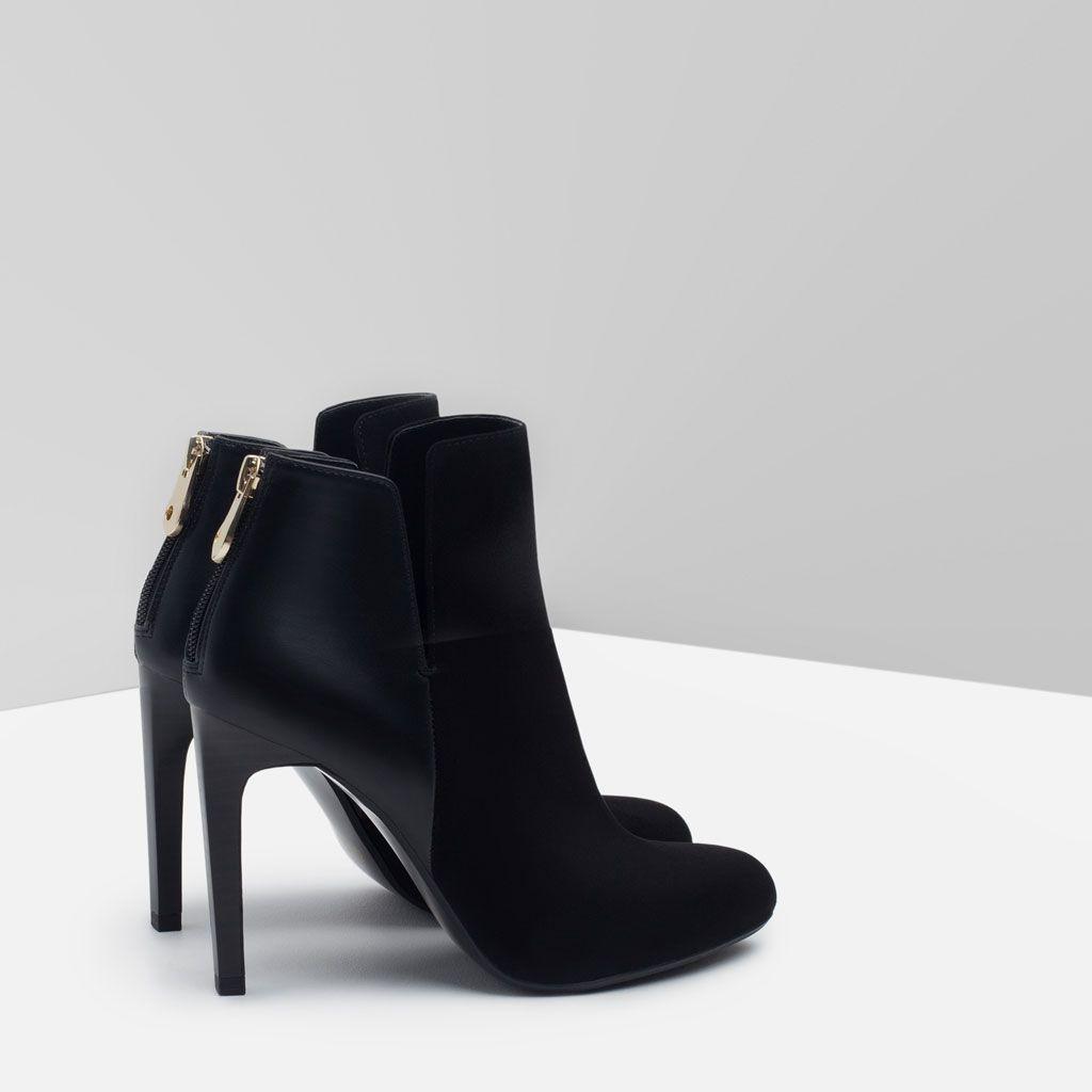 bottines À talon assorti-tout voir-chaussures-femme | zara maroc
