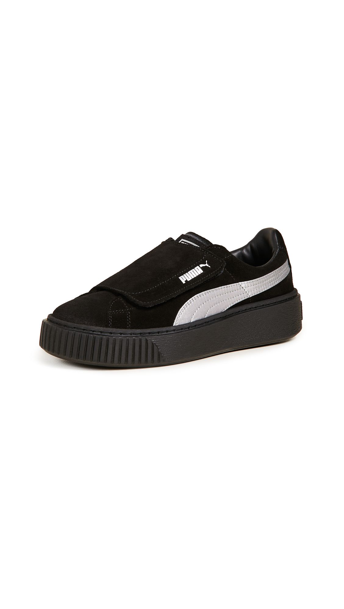 9fda394fd1b5 PUMA PLATFORM STRAP SATIN EP SNEAKERS.  puma  shoes
