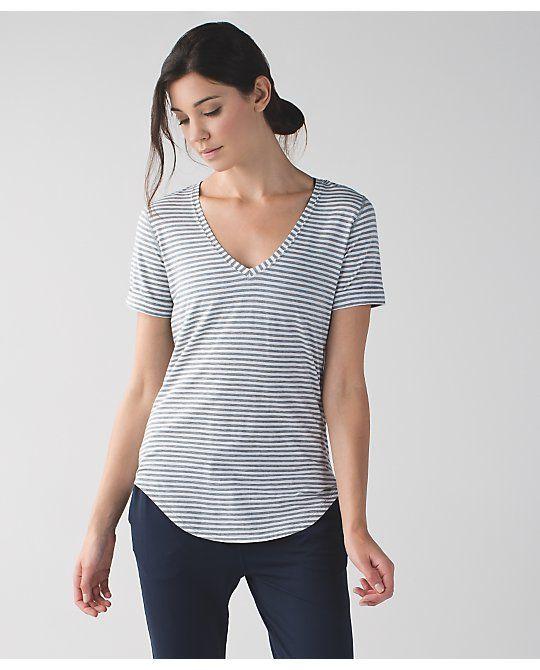 61c093c9f0b Love Tee II - classic stripe white heathered medium grey | Style ...
