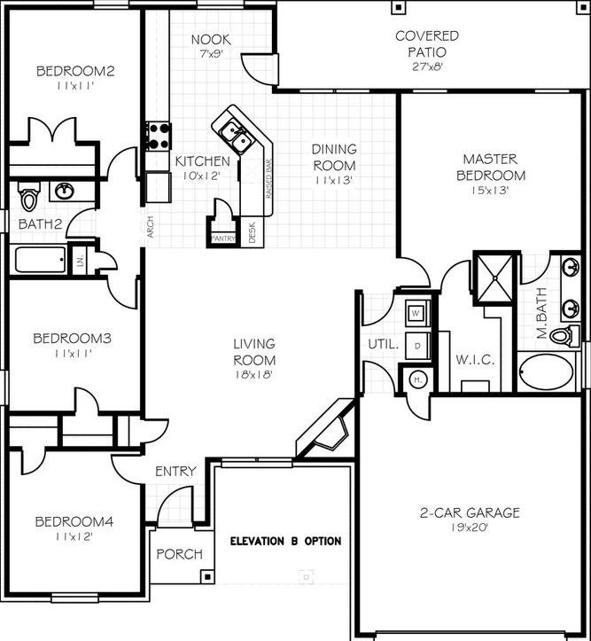 Midwest City Home For Sale Craftsman Floor Plans House Plans Luxury Plan