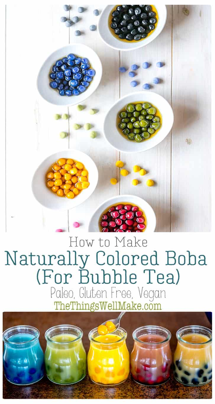 Naturally Colored Boba Black  Other Colors  Recipe